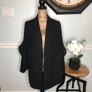 Alfani Women's Flounce Sleeve Jacket Size 1X